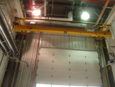 Harriman Material Handling Approx. 21' ft. Span 3-Ton Capacity Single Rail Bridge Crane With Powered