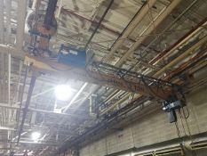 Demag Traveling Bridge Crane, approx. 18' span, includes 2-ton electric chain hoist, 6-way pendant