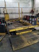 "Hydraulic Forklift Repair Platform, overall 87""W x 15'L, pendant control, access ramp."