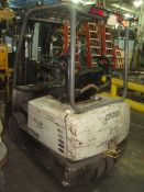 Crown 4,000 lb. Capacity Electric Forklift With Side Shift, Double Mast Height Limit. 36V. Asset#