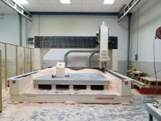 """Thermwood C-72 5-Axis CNC Router, Gen2 Supercontrol with Cartesian 5"""" Remote, Showing 110034 hrs,"""