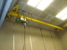 Approx. 16' ft. 1/2-Ton Capacity Bridge Crane With P & H 1/2-Ton Capacity Electric Cable Hoist.