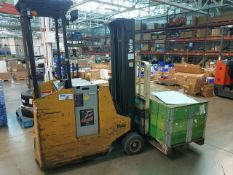 """Yale Model ESC030ABN24TE083 3,000 lb. Capcity Electric Stand Up Fork Lift Truck, 190"""" in. Lift"""