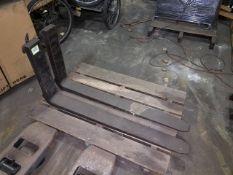 "Pair of 42"" Spare Forklift Forks."