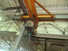 Abell- Howe Approx. 21' ft. Span 6-Ton Capacity Bridge Crane With (Qty 3) 2-Ton Capacity Chain Falls