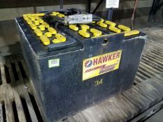 Hawker Powersource Model EO-583 36-Volt Spare Forklift Battery, type 018085F27, hour capacity 1105
