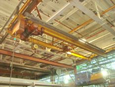 Approx. 22' ft. x 8' ft. 2-Ton Capacity Double Rail Bridge Crane With Yale 2-Ton Capacity Electric