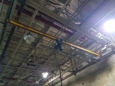 Demag 1-Ton Manual Bridge Crane, approx. 20' span, includes 1-ton electric chain hoist, 2-way