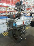 """Lagun/Republic FTV-2S 3-HP Vertical Milling Machine, variable speed, 10"""" x 50"""" power feed table,"""