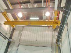 Harriman Material Handling Approx. 21' ft. Span 10-Ton Capacity Single Rail Bridge Crane With