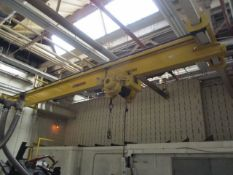 Handling System 5-Ton Single Grider Underslung Bridge Crane, Electric Cable Hoist, 24' Span, 20'