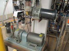 Gast 6066-V107A 5 HP Vacuum Pump, Gast 2587-V103 1-1/2 HP Vacuum Pump (Basement BZ-46)