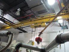 Sievert 3-Ton Single Grider Underslung Bridge Crane with Yale Electric Cable Hoist, 30' Span, 11'