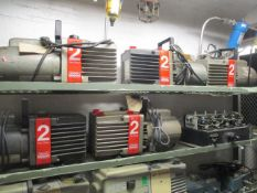 Contents of Cage 5 including (2) Dayton 3-Phase Motors, 1/3HP, 157RPM, (2) Emerson Motor with