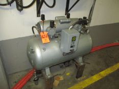 Gast 1-1/2 HP Horizontal Tank Mounted Vacuum Pump with Wilkerson Refrigerated Air Dryer (Basement