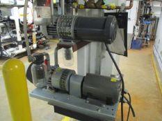 Gast 6066-V107A 5 HP Vacuum Pump, Gast 2587-V103 1-1/2 HP Vacuum Pump (Basement CY-46)