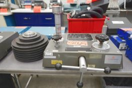 JLW Instruments Hydraulic Dead Weight Tester, S/N 6814/280H with Weight Sets (Instrumentation and