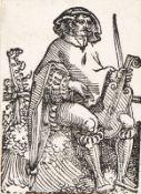 HANS SEBALD BEHAM: Ein Violaspieler - Eine sitzende Jungfrau.