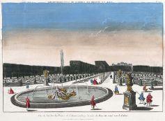 "VARIA - SCHLÖSSER UND GÄRTEN: ""Vue du Jardin du Prince de Schwarzenberg du Côte du Bassin...""."