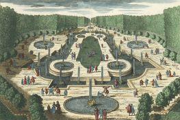 VARIA - SCHLÖSSER UND GÄRTEN: Veue du Jardin de Versaille... - Le Bassin de Saturne... - La Salle d