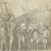 ANDREA ANDREANI: Der Triumphzug des Julius Caesar: Vasenträger, geschmückte Opferochsen und Fanfare