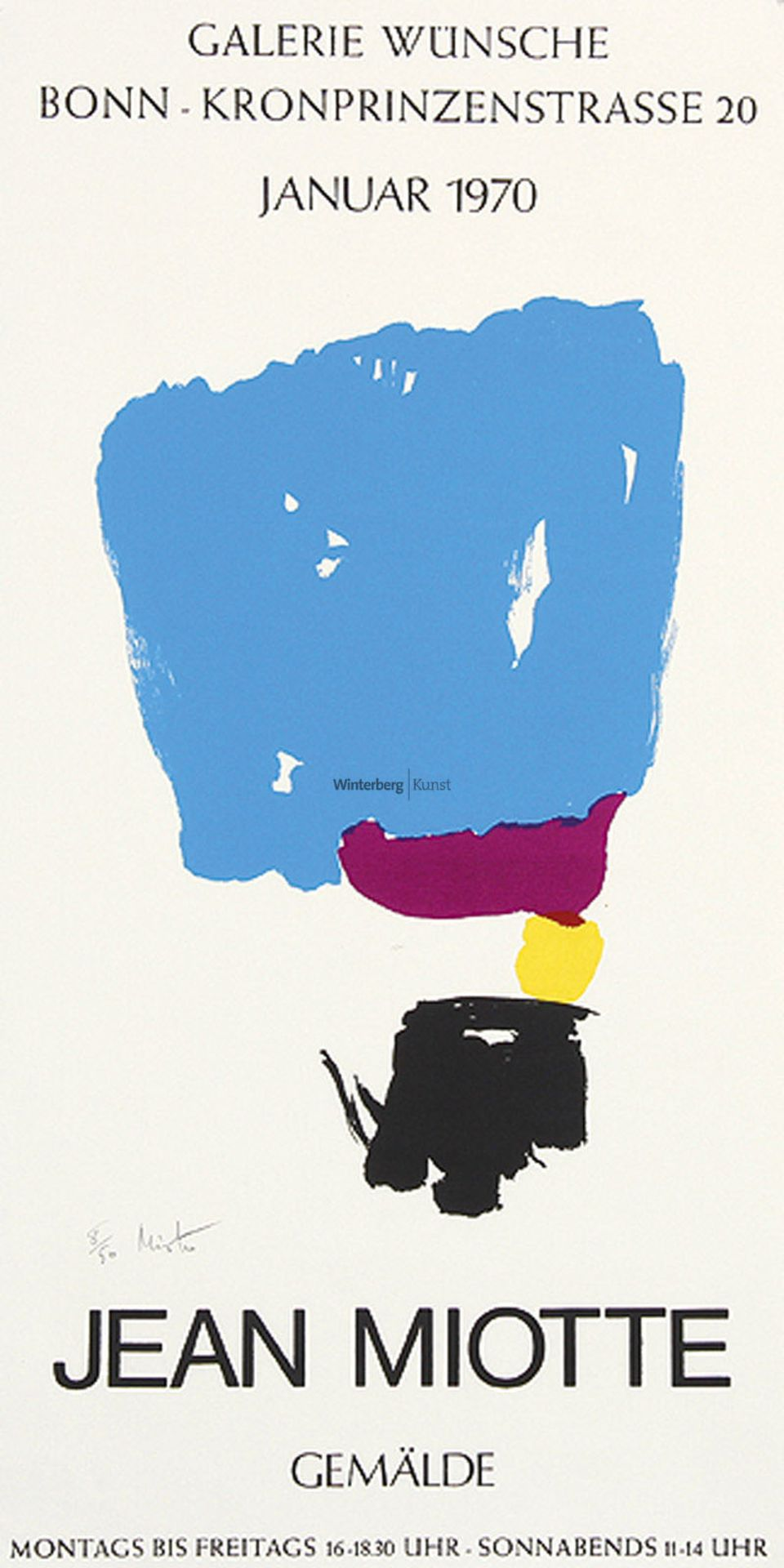 JEAN MIOTTE: Jean Miotte. Gemälde.