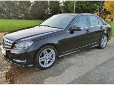 (RESERVE MET)Mercedes C220 CDI AMG Sport Line Auto - 2013 13 Reg - Parking Sensors - No Vat