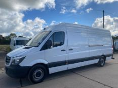 (RESERVE MET)Mercedes Sprinter 313 CDI LWB High Roof - 6 Speed - 2015 Model - Ply Lined