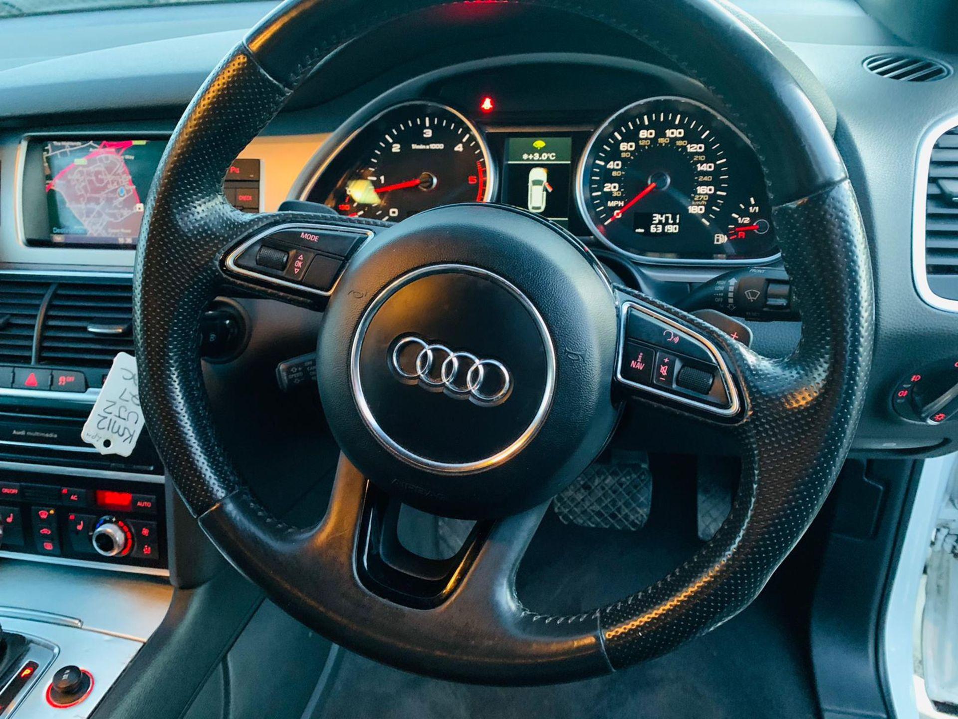 (Reserve Met)Audi Q7 3.0 TDI Quattro S Line Plus Auto (7 Seats) - 12 Reg - Only 63k Miles -Sat Nav- - Image 22 of 37