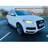 (Reserve Met)Audi Q7 3.0 TDI Quattro S Line Plus Auto (7 Seats) - 12 Reg - Only 63k Miles -Sat Nav-