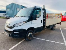 (RESERVE MET) Iveco Daily 35C14 14ft Alloy DropSide 6 Speed 2017 17 Reg - Air Con - Tail Lift - ULEZ