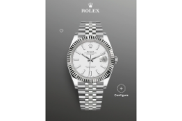 Rolex Datejust 41 White Dial, Fluted White Gold Bezel, Jubilee Bracelet Ref 126334, BRAND NEW,