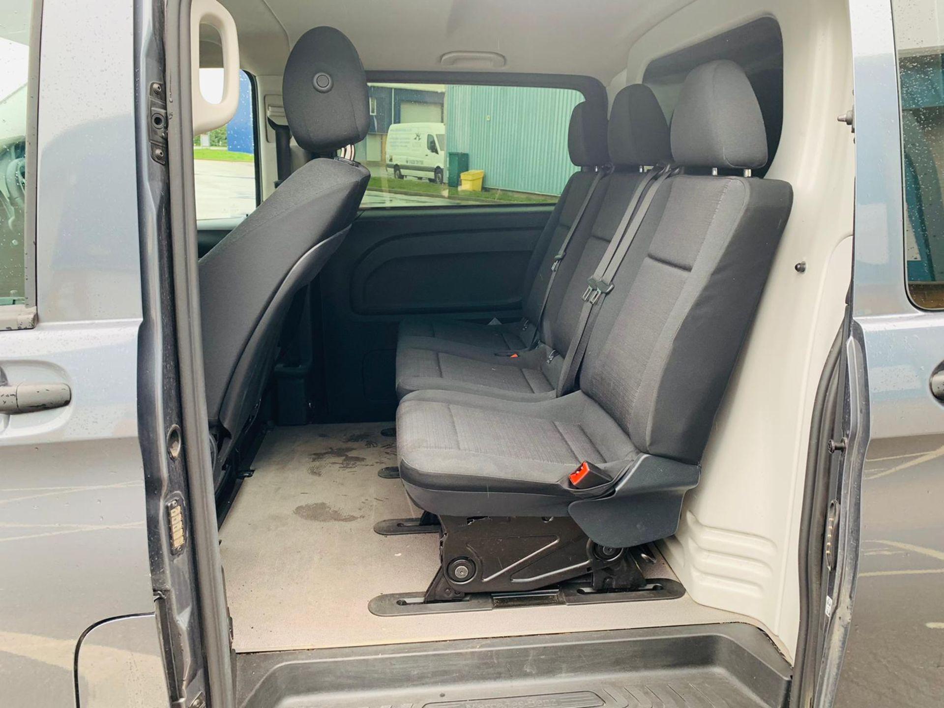 Mercedes Vito 114 Bluetec Dualiner/Crew Van - Auto - Air Con - 2018 18 Reg - 1 Owner From New - Image 9 of 25