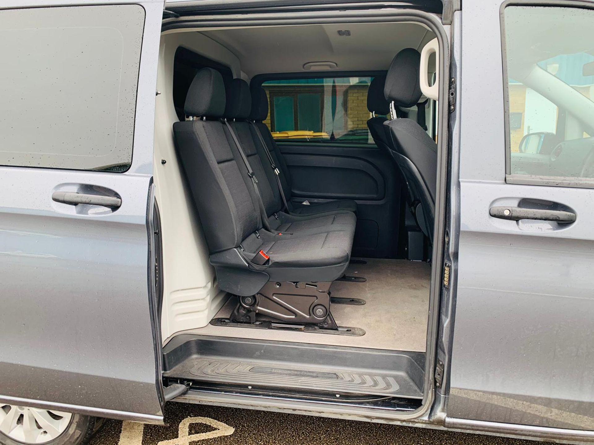 Mercedes Vito 114 Bluetec Dualiner/Crew Van - Auto - Air Con - 2018 18 Reg - 1 Owner From New - Image 10 of 25