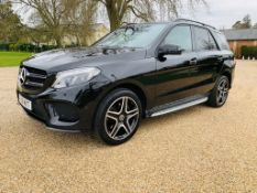 (RESERVE MET) Mercedes GLE 250d 4Matic AMG Night Edition 9G Tronic - 2018 18 Reg - Only 33K Miles -