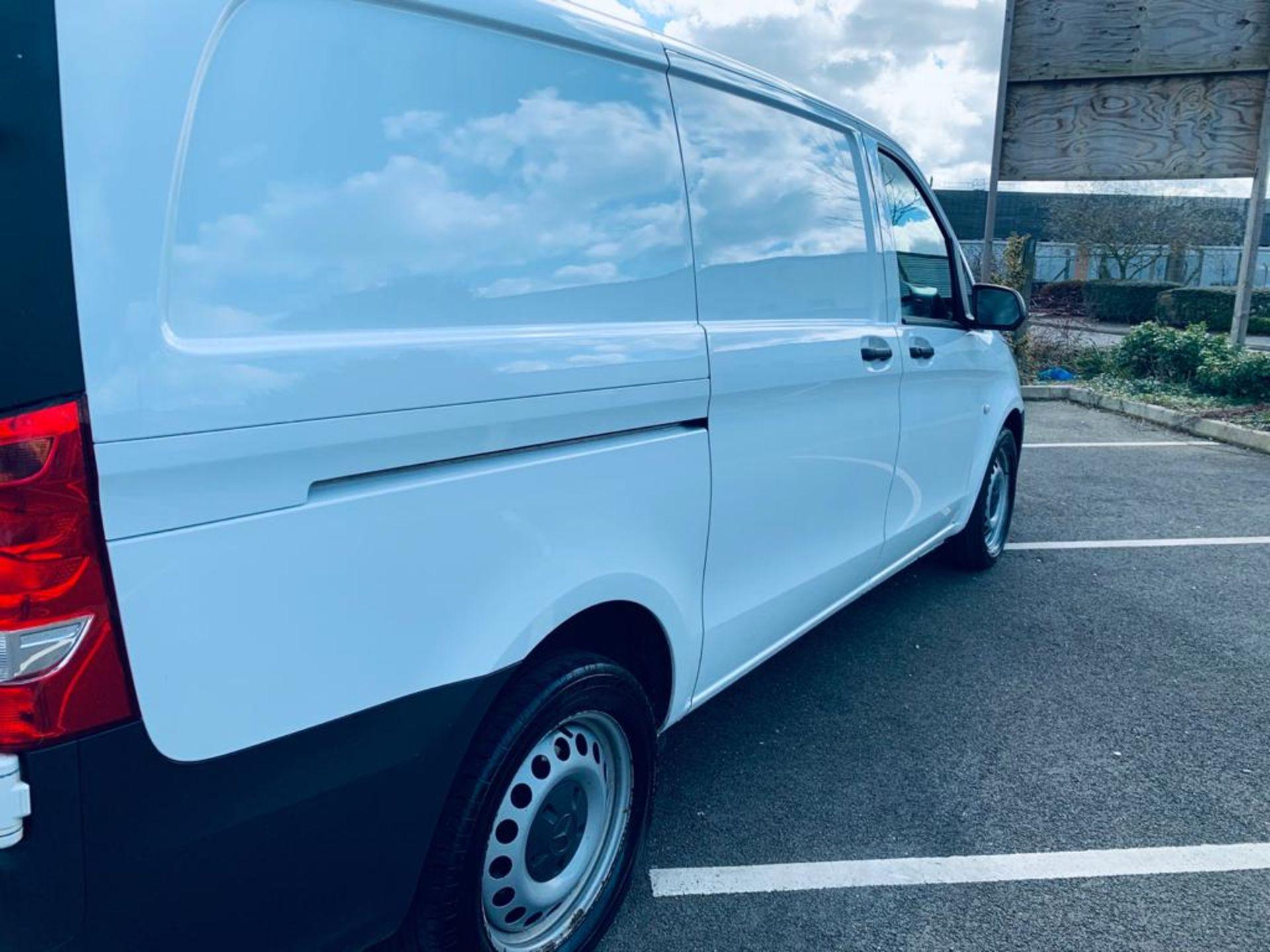 Reserve Met - Mercedes Vito 114CDI Bluetec 2018 18 Reg LWB - Air Con - Euro 6 - FSH - ULEZ - 1 Owner - Image 3 of 26