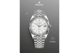 (RESERVE MET) Rolex Datejust 41 White Dial, Jubilee Bracelet Ref 126334, BRAND NEW