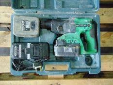 Hitachi DH24DVC SDS Hammer Drill c/w 2 x Batteries & Charger