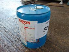 1 x Unissued 17L Drum of EXON Coolant 25R Silicate Ester Dielectric Heat Transfer Fluid