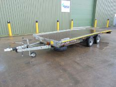 Brian James Twin Axle Car Transporter Trailer c/w Pull Out Ramps