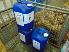 3 x Unissued 25L Drums of AL-20 Ethylene Glycol Based Antifreeze