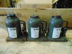 Q 3 x McNair Engineering 35 Ton Hydraulic Jacks