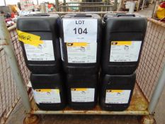 6 x Unissued 20L Sealed Drums of CAT DEO 15W-40 Engine Oil