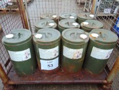 10 x Unused 25L Drums of Ultra-Safe OX-40 High Quality luminescent green hydraulic fluid