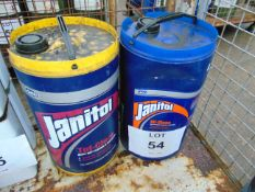 2 x Unused 25L Drums of Janitol Heavy Duty Degreaser Cleaner