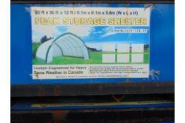 PEAK STORAGE SHELTER 20'W X 30'L X 12'H P/N.203012QX- 8P