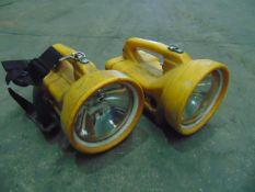 2 x Dragon Delta 12V Portable Search Lights