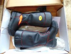 New Unissued Jolly Crosstech Gore-Tex Leather Firefighters, Bikers, Rigger Boots Waterproof SIZE 5