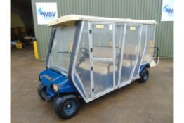 Club Car 6 Seater Electric Estate Vehicle c/w Battery Charger From the UK MOD .