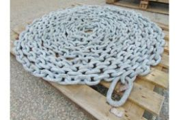 20m Galvanised Mooring Chain Assy. This would be ideal for light ships etc